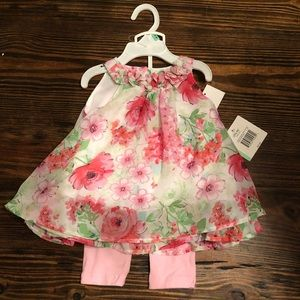 Little Me dress and leggings set - 18M